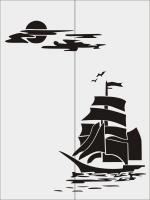 Парусник на море №21