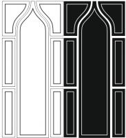 Пескоструйный рисунок на двери №21
