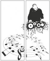 Пескоструйный рисунок Диджей №21