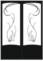 Пескоструйный рисунок на двери №220