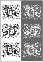 Пескоструйный рисунок Дракон №22