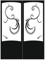 Пескоструйный рисунок на двери №221