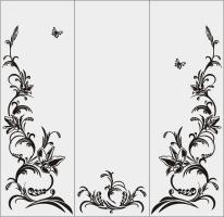 Бабочки в векторе №22