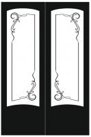 Пескоструйный рисунок на двери №222