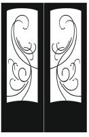 Пескоструйный рисунок на двери №223