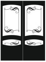 Пескоструйный рисунок на двери №225