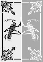 Шаблон птицы №22