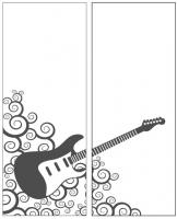 Пескоструйный рисунок Гитара №22