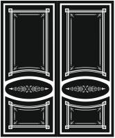 Пескоструйный рисунок на двери №226