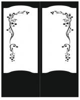 Пескоструйный рисунок на двери №227