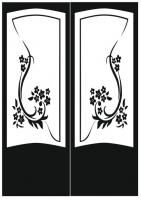 Пескоструйный рисунок на двери №229