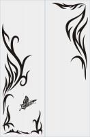 Бабочки в векторе №2