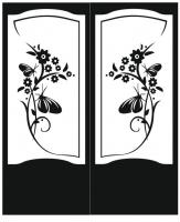 Пескоструйный рисунок на двери №230