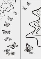 Бабочки в векторе №23