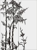 Бамбук в векторе №23