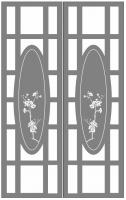 Пескоструйный рисунок на двери №234