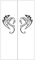 Пескоструйный рисунок Дракон №23