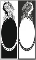 Пескоструйный рисунок Дракон №24