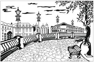 Пескоструйный рисунок Архитектура №245