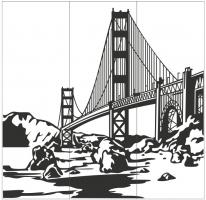 Пескоструйный рисунок Архитектура №247