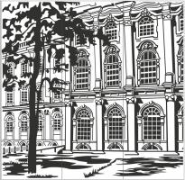 Пескоструйный рисунок Архитектура №249
