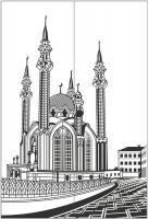 Пескоструйный рисунок Архитектура №250