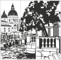 Пескоструйный рисунок Архитектура №251