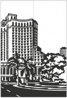 Пескоструйный рисунок Архитектура №252