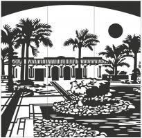 Пескоструйный рисунок Город №253