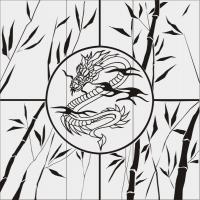 Бамбук в векторе №25
