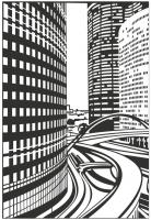 Пескоструйный рисунок Город №254