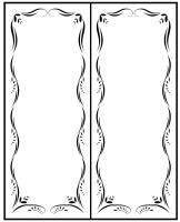 Пескоструйный рисунок Рамка №264
