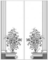 Пескоструйный рисунок ваза № 26