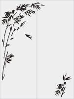 Бамбук в векторе №27
