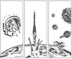 Пескоструйные рисунки Космос №27