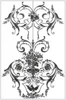 Пескоструйный рисунок ваза № 27