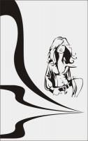 Пескоструйный рисунок люди  №283