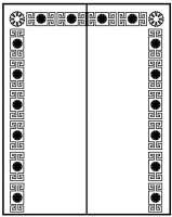 Пескоструйный рисунок Рамка №283