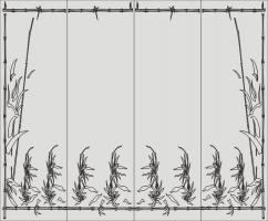 Бамбук в векторе №28