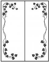Пескоструйный рисунок Рамка №284