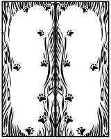 Пескоструйный рисунок Рамка №285