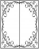 Пескоструйный рисунок Рамка №286