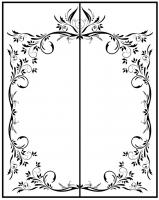 Пескоструйный рисунок Рамка №287