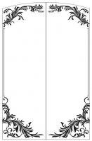 Пескоструйный рисунок Рамка №288