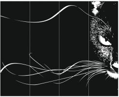 Пескоструйный рисунок Кошка №290