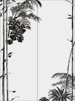 Бамбук в векторе №29