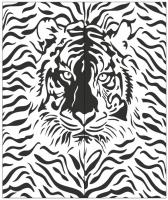 Пескоструйный рисунок Тигр №294