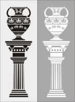 Пескоструйный рисунок ваза № 29