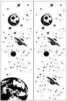 Пескоструйные рисунки Космос №30