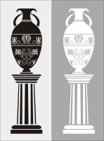 Пескоструйный рисунок ваза № 30